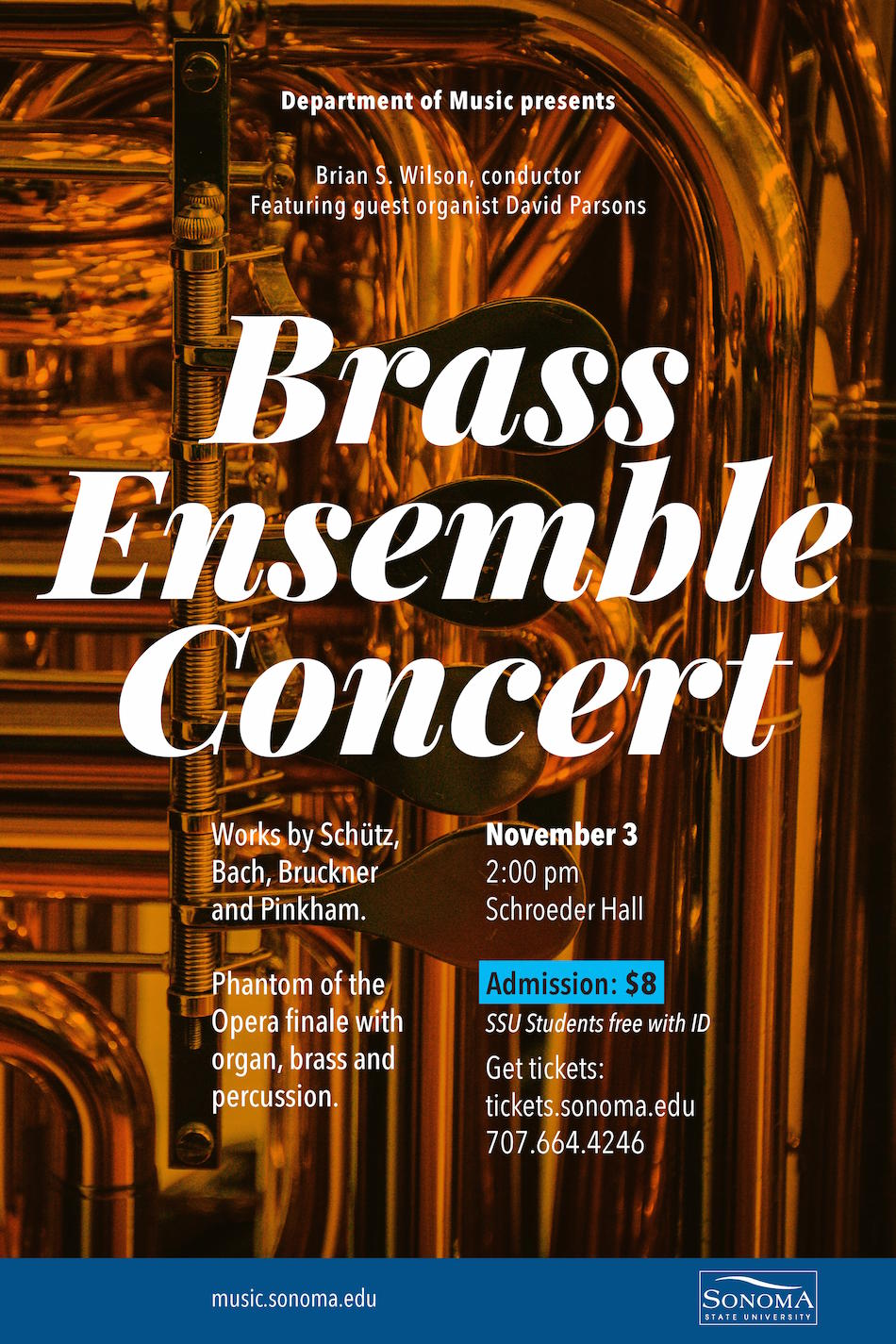 Department of Music concert poster